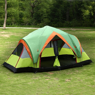 5-8 Persons Outdoor beach Picnic Camping Tent with 2-Rooms Automatic Pop-up Quick Open Double-Layers