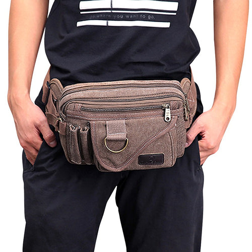 Sport Running Water Resistant Durable Canvas Phone Storage Pouch Outdoor Travel Bag
