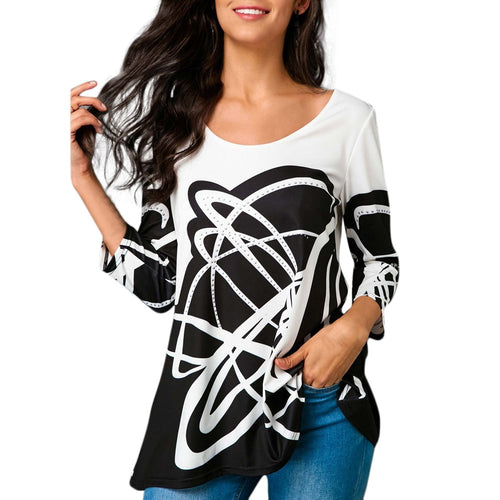 Fashion Womens Casual O-Neck T-Shirt Tops