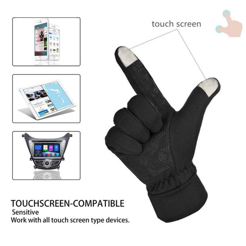 Touch Screen Gloves Winter Thicken Hot Gloves Reflective Professional