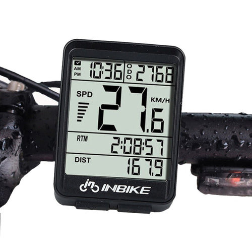 Cycle Computer Speedometer Odometer Back light LCD Screen
