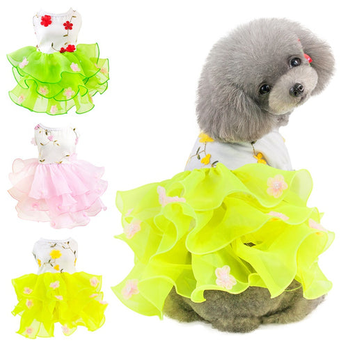 Dog Dress for Small Dogs Pet Clothes Princess Wedding Skirt Luxury