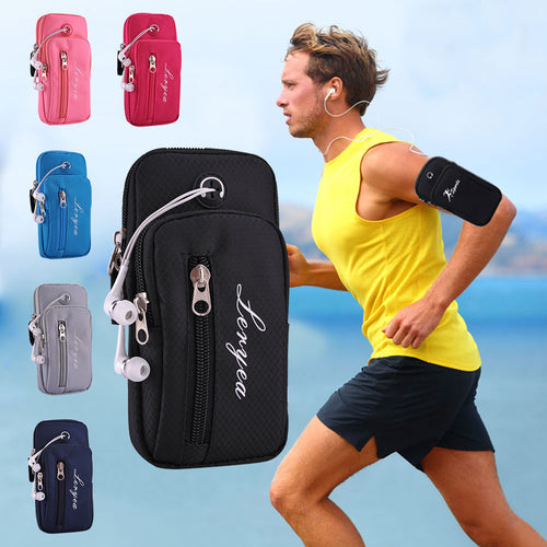 New Outdoor Sports  Waterproof Running  Headset Hole Casual Arm Package Bag