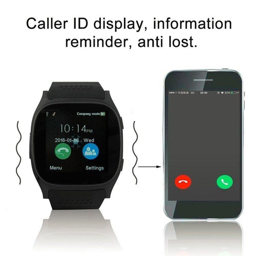 T8 Android Phone Call Relogio 2G GSM SIM Smart Watch