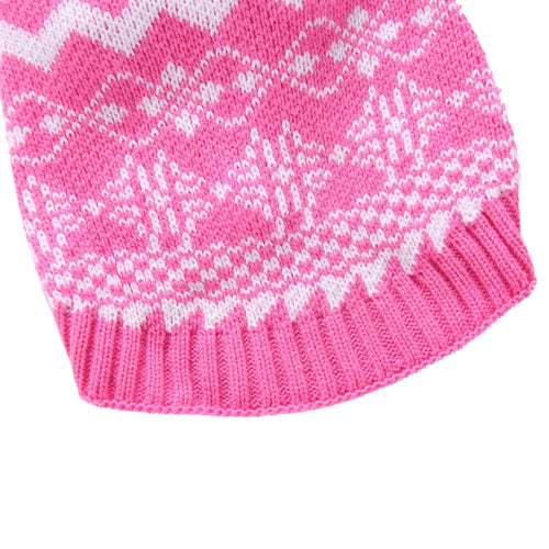 Snowflake Knitted Dog Sweater Winter Pet Outwear Puppy Clothes Turtleneck