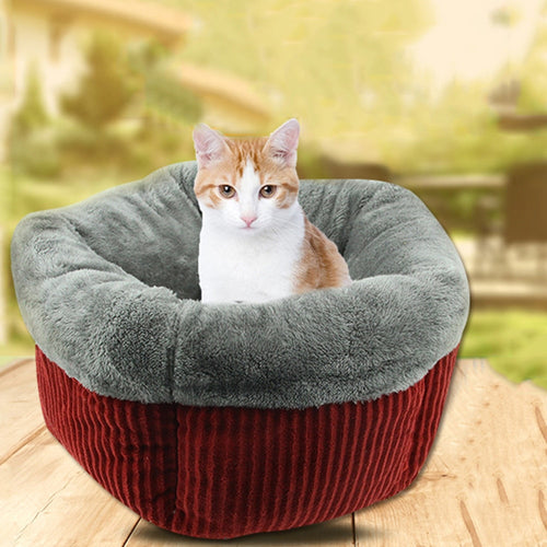 Fashion comfortable Dog Bed Kennel Small Cat Pet Puppy Round