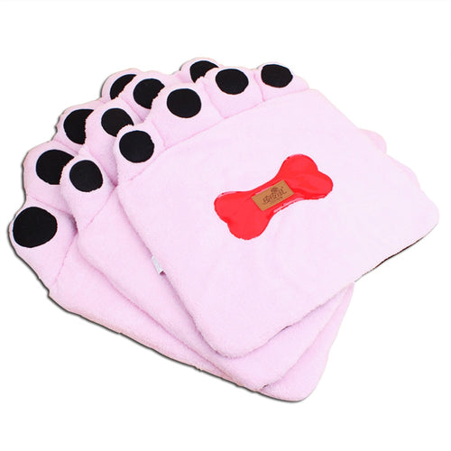 Autumn and winter pet mats, footprints pet pet cushion three-piece