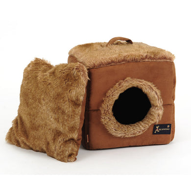 Round hole square pet room, warm winter kennel, plush cat