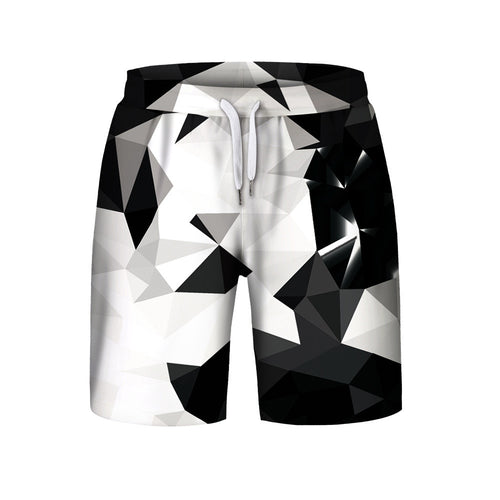 Men's Summer Casual Plus Size Printed  Shorts