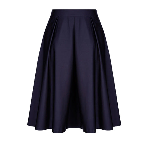 Women's retro ruffle cocktail party A-shaped skirt