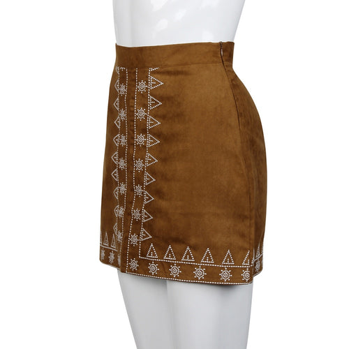 Women's Suede Fabric Skirt Slim Seamless Elastic