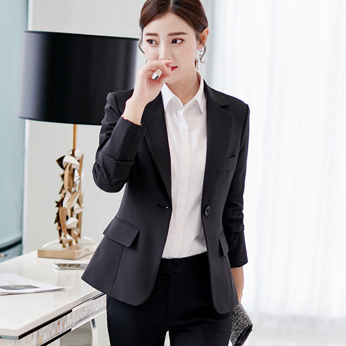 Women Long Sleeve one Button  Work Office jacket  Coat