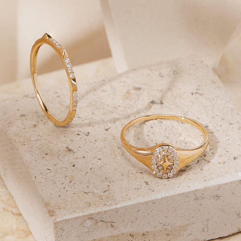 NEPTUNE | Diamond Constellation Stackable Band
