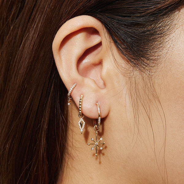 BIRDIE | Diamond Puffed Cushion Earring Charm