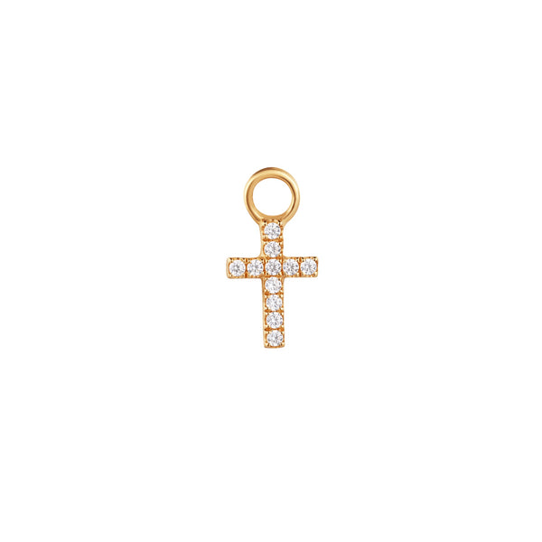 ESTHER | Diamond Cross Earring Charm