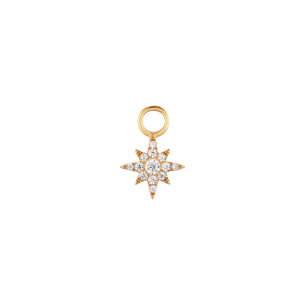 STELLA | Diamond Starburst Earring Charm