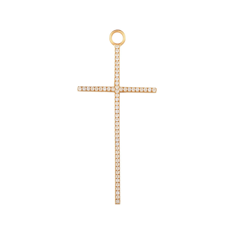 DELILAH | Large Diamond Cross Earring Charm