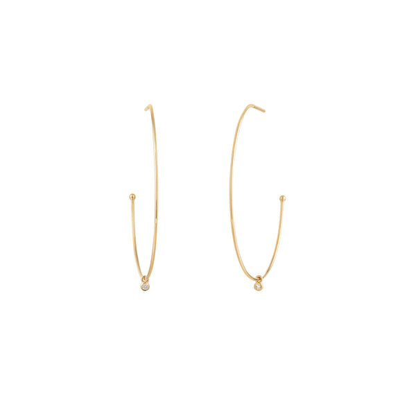 DAPHNE | Dangling Diamond Hoops