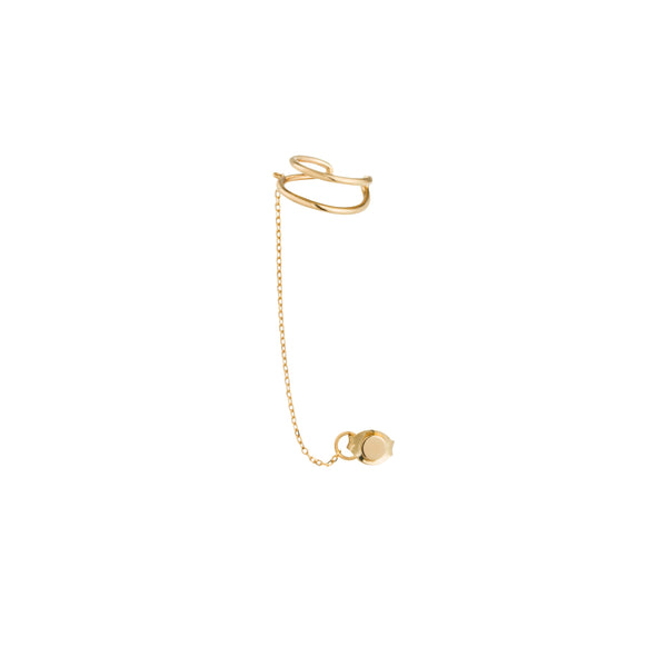 STEVIE | Single Disc Chain Ear Cuff