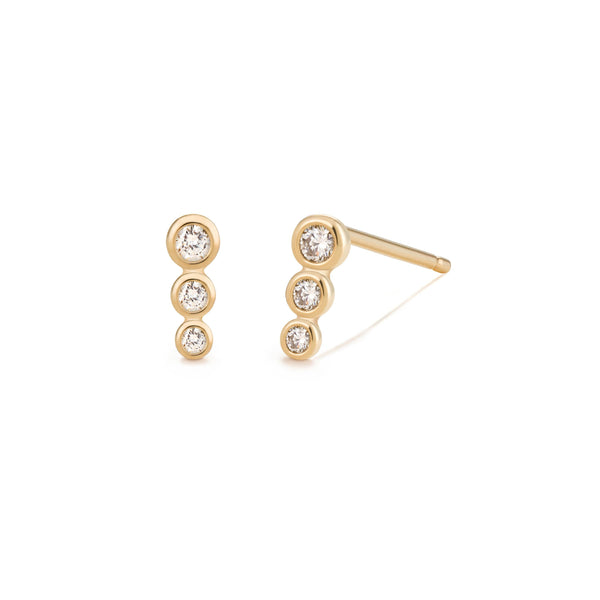 BEY | Graduated Bezel Diamond Studs