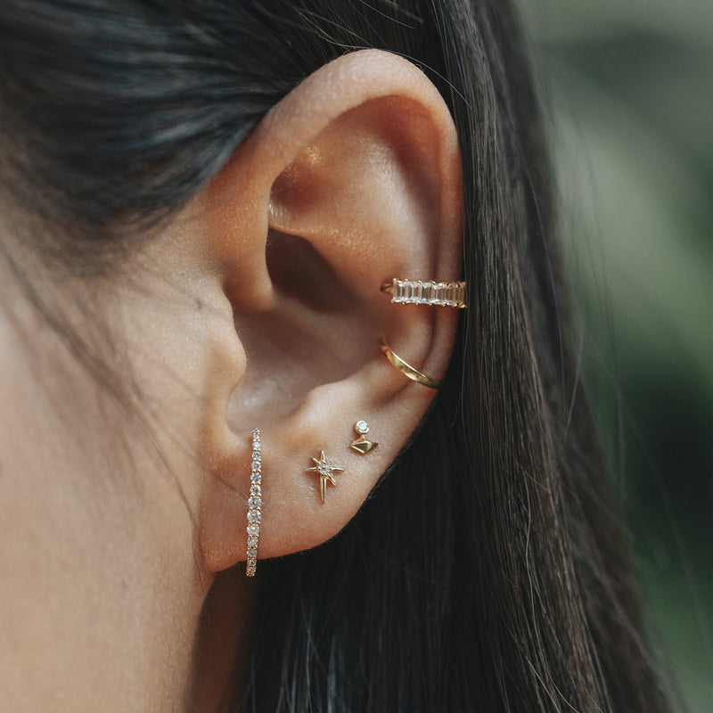 PHOEBE | Single Diamond Ear Climber Stud