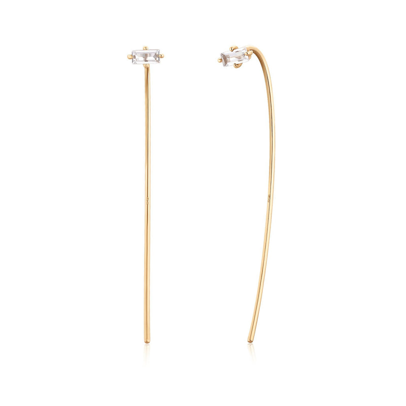 ZORA | Topaz Baguette Drop Earrings
