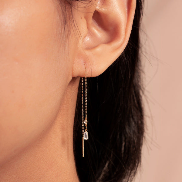 CAMILA | Topaz Threader Earrings
