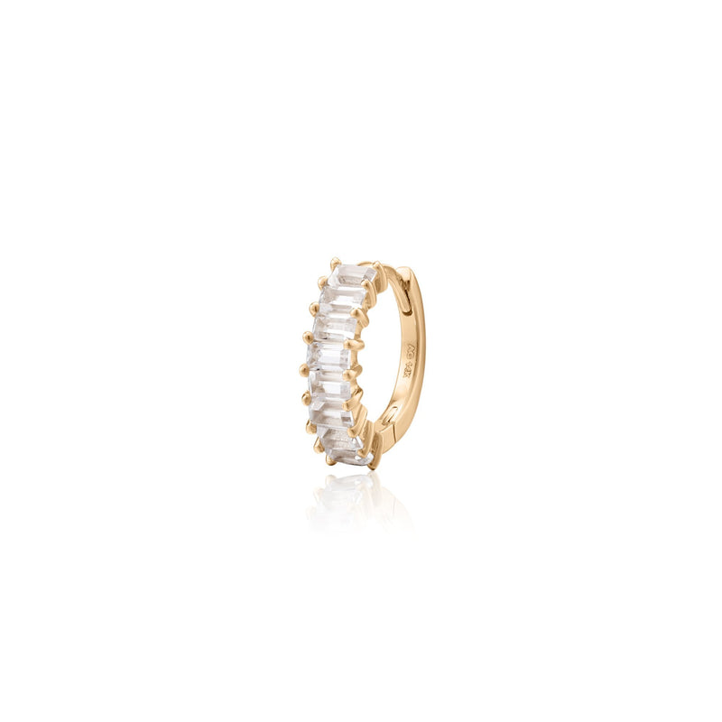 LEE | Single Topaz Huggie Hoop