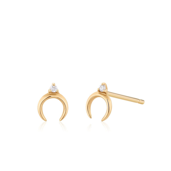 GLORIA | Diamond Arc Studs