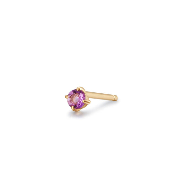 ELVA | Amethyst Single Stud Earring