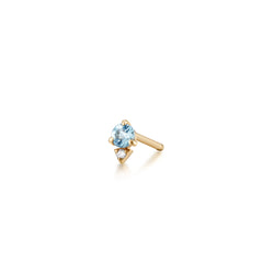 BECK | Aquamarine and Diamond Single Stud Earring