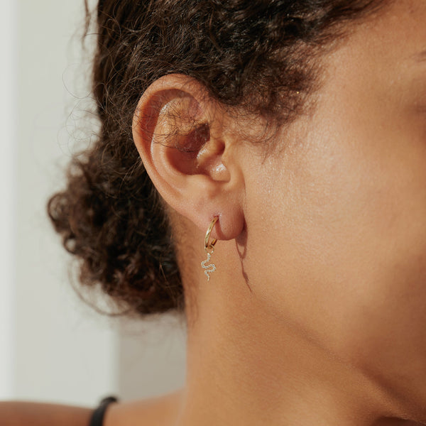 NEFERTITI | Diamond Snake Earring Charm