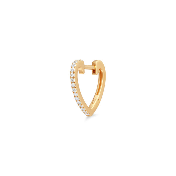 EVERLY | Diamond Heart Single Huggie Hoop