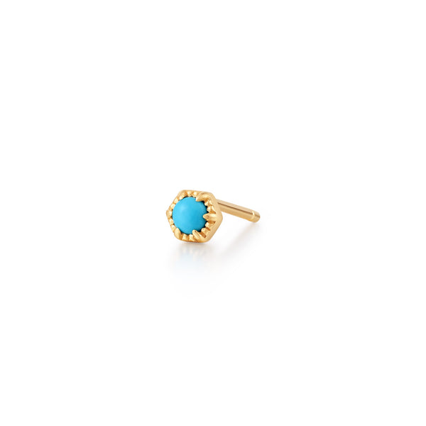 AMINA | Turquoise Solitaire Single Stud