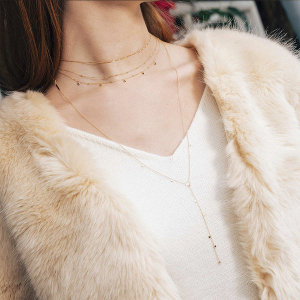 MOIRA | Disc Lariat Necklace
