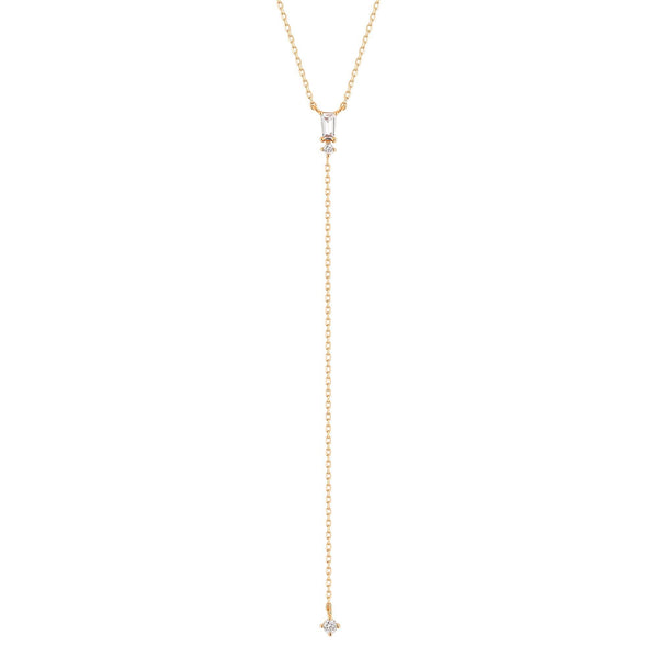 BRITNEY | Topaz Lariat Necklace