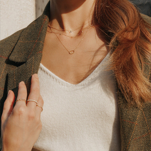 SOMA | Dangling Topaz Necklace