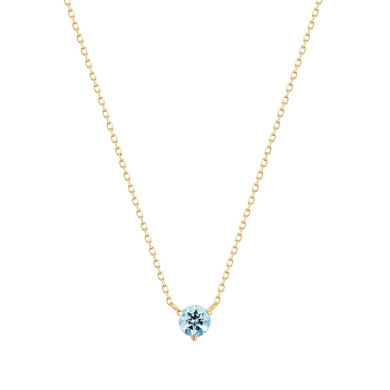 CANDICE | Aquamarine Solitaire Necklace
