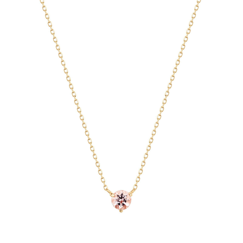 BLOSSOM | Morganite Solitaire Necklace