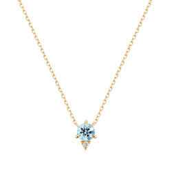 BECK | Aquamarine and Diamond Necklace