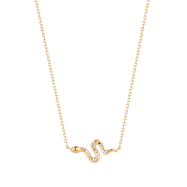 NEFERTITI | Diamond Snake Necklace