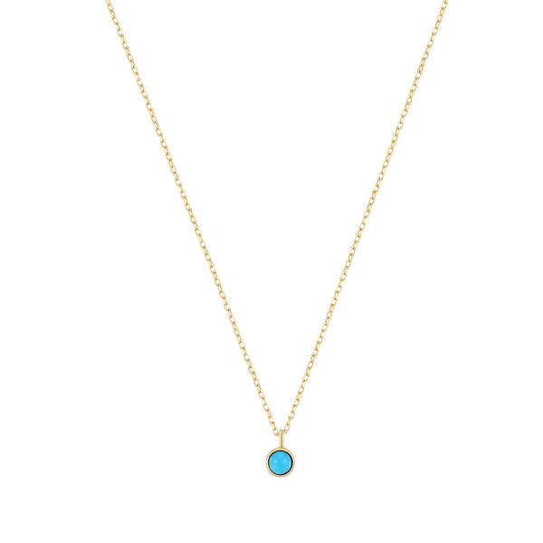 MARIA | Turquoise Solitaire Necklace