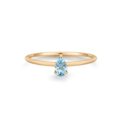 PERRY | Aquamarine Solitaire Ring