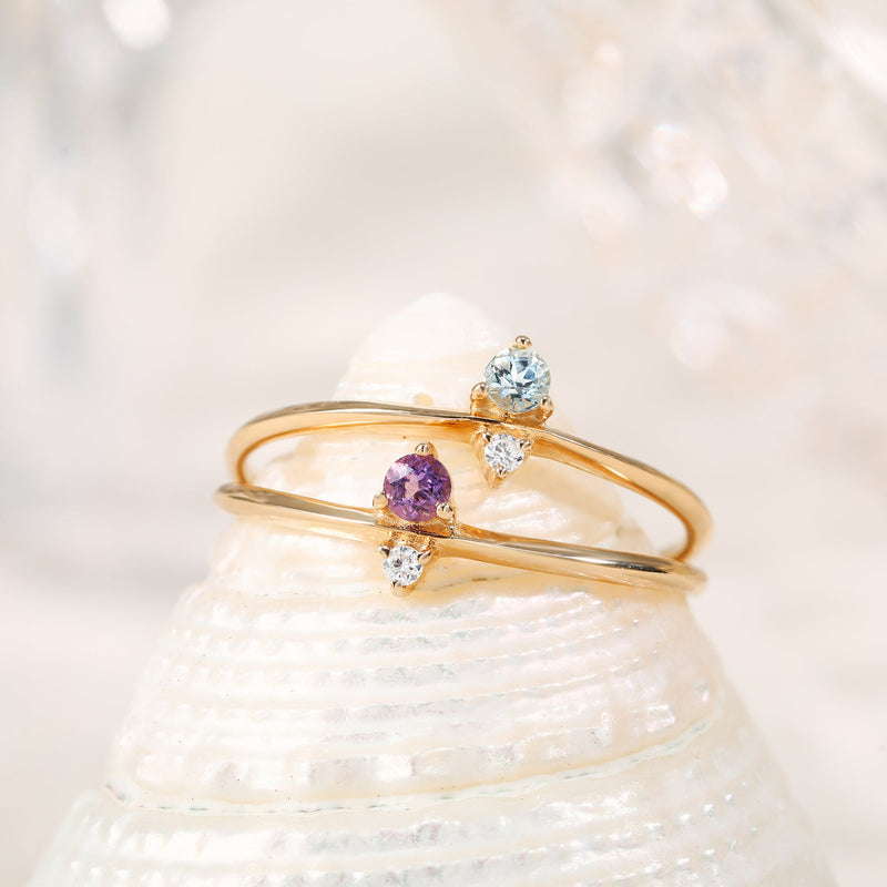 ELENA | Amethyst and Diamond Ring