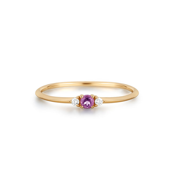 EVIE | Amethyst and Diamond Ring
