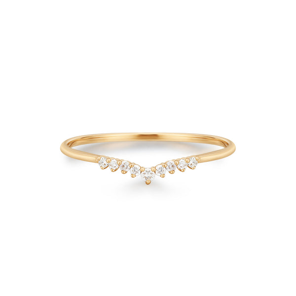 FROST | Curved Diamond Ring
