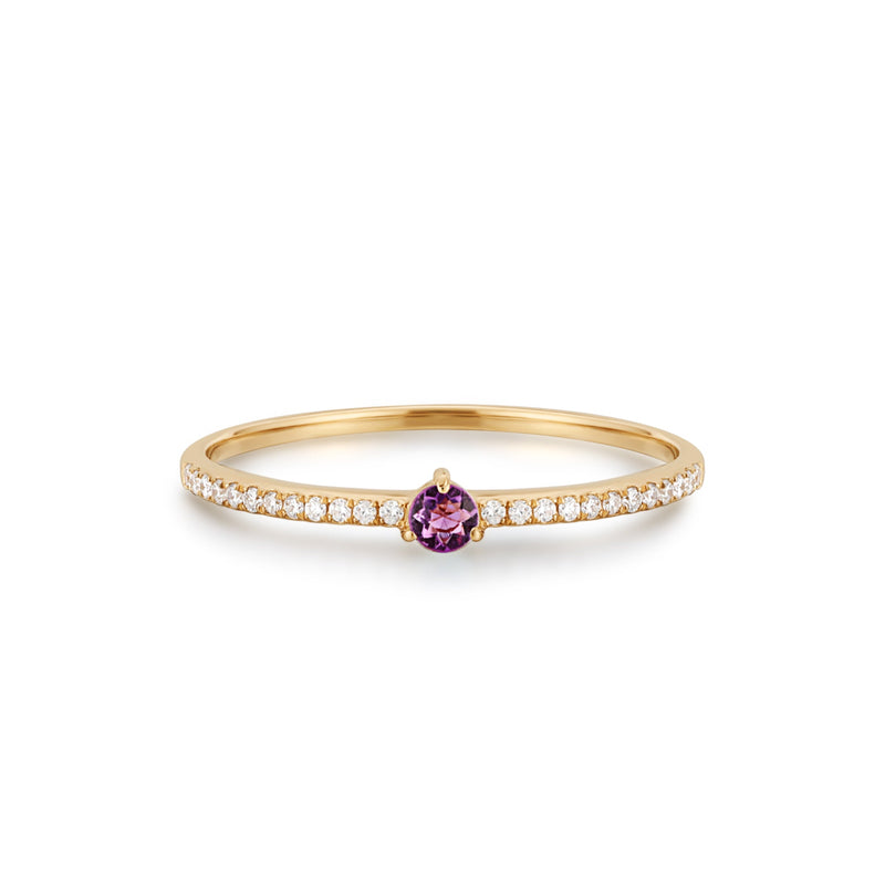GISELLE | Amethyst and Diamond Ring