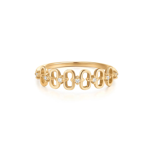 ANASTASIA | Diamond Paper Clip Stackable Ring