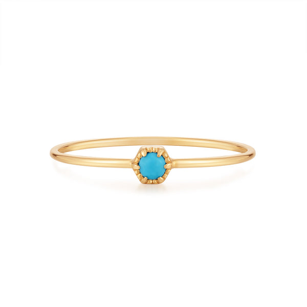AMINA | Turquoise Solitaire Ring