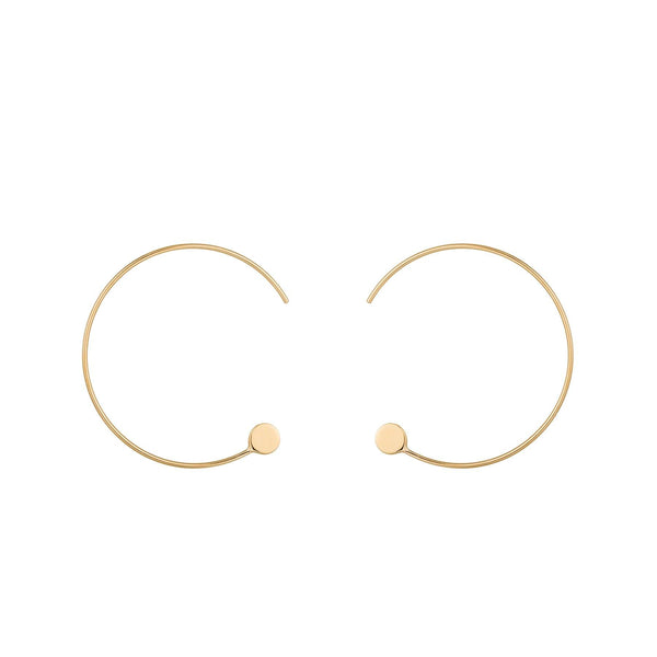DEBBIE | Seamless Disc Hoops